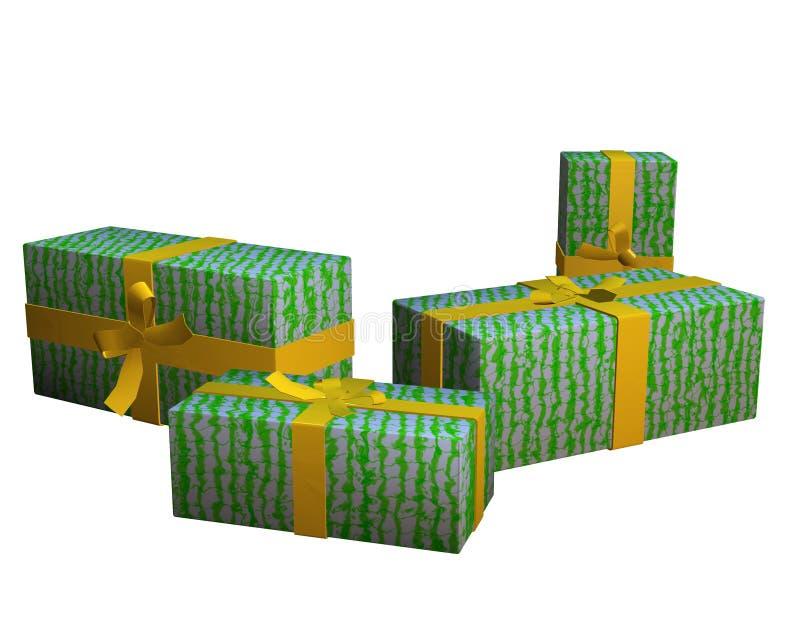 Cadre de cadeau 1 illustration de vecteur
