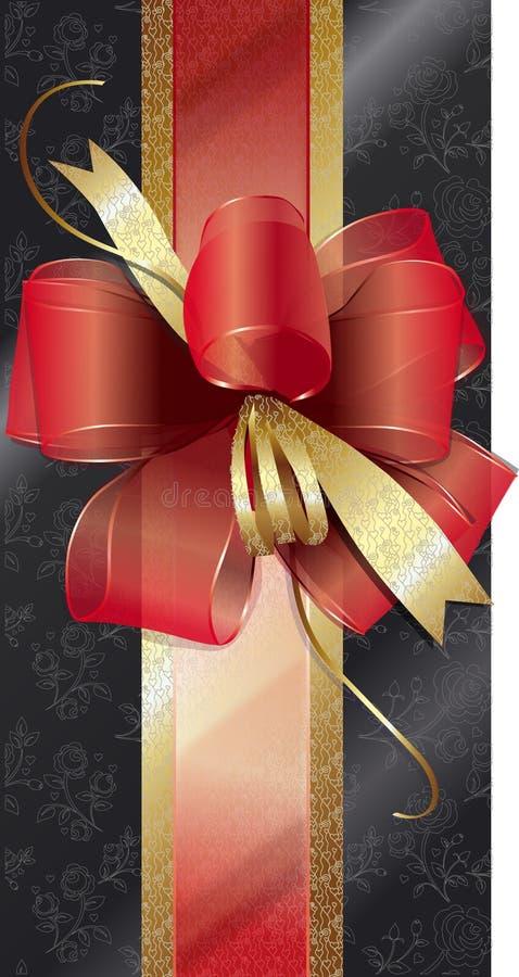 Cadre de cadeau avec une proue rouge photo libre de droits