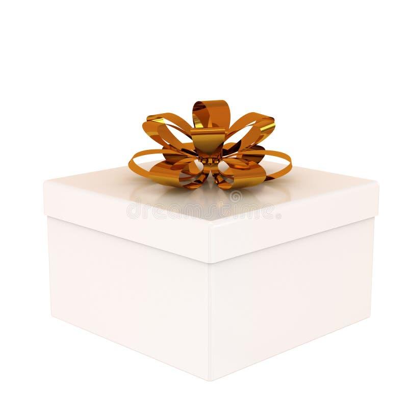 Cadre de cadeau blanc illustration de vecteur
