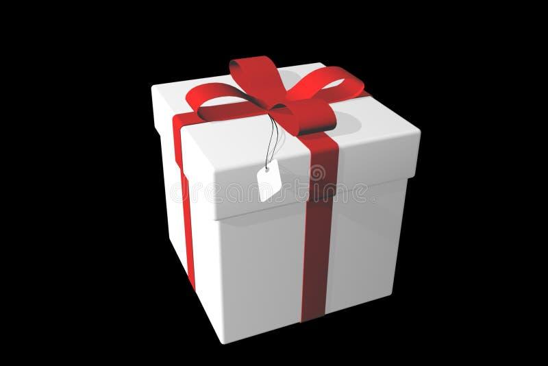 Cadre de cadeau blanc au-dessus de noir. illustration de vecteur