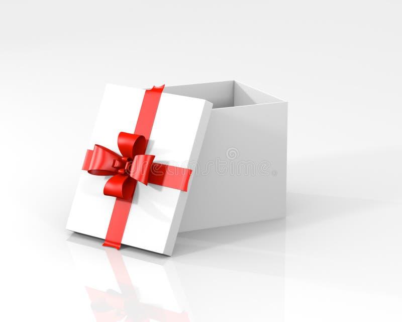 Cadre de cadeau blanc avec le couvercle illustration stock