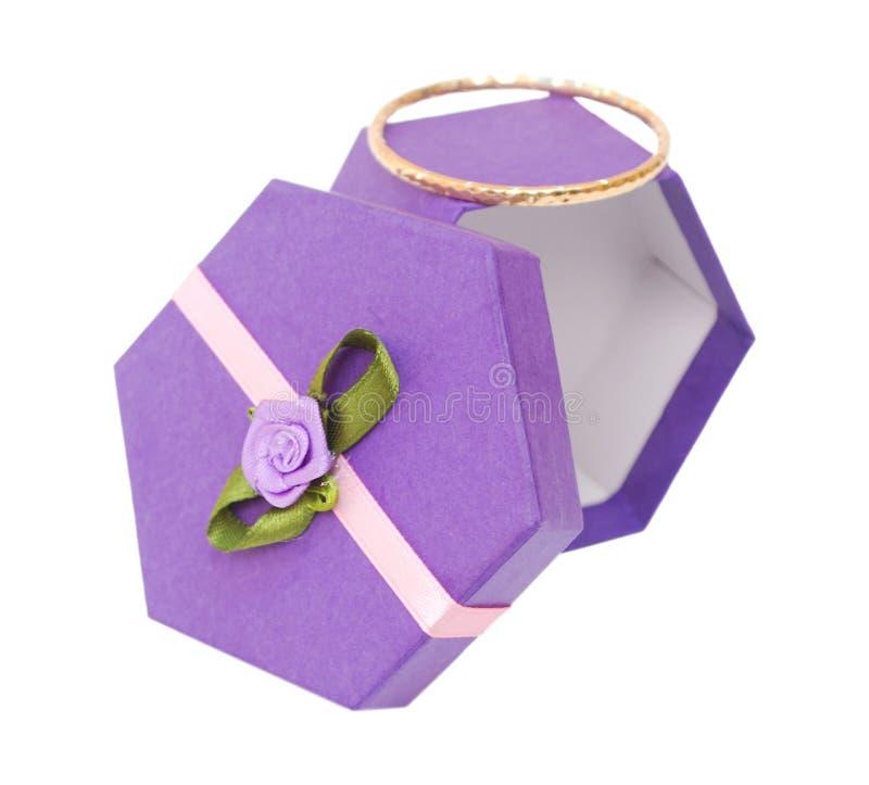 Cadre de cadeau d'hexagone photographie stock libre de droits