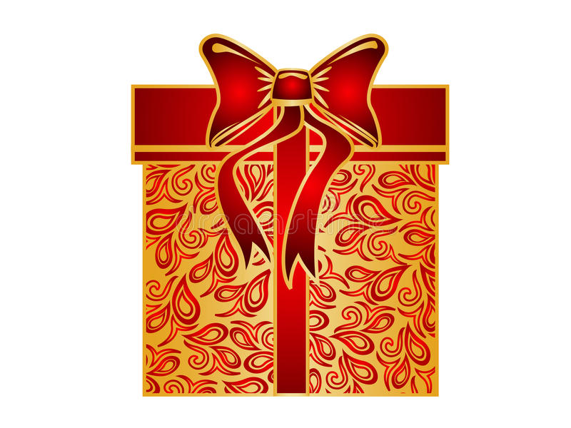 Cadre de cadeau de Noël illustration de vecteur