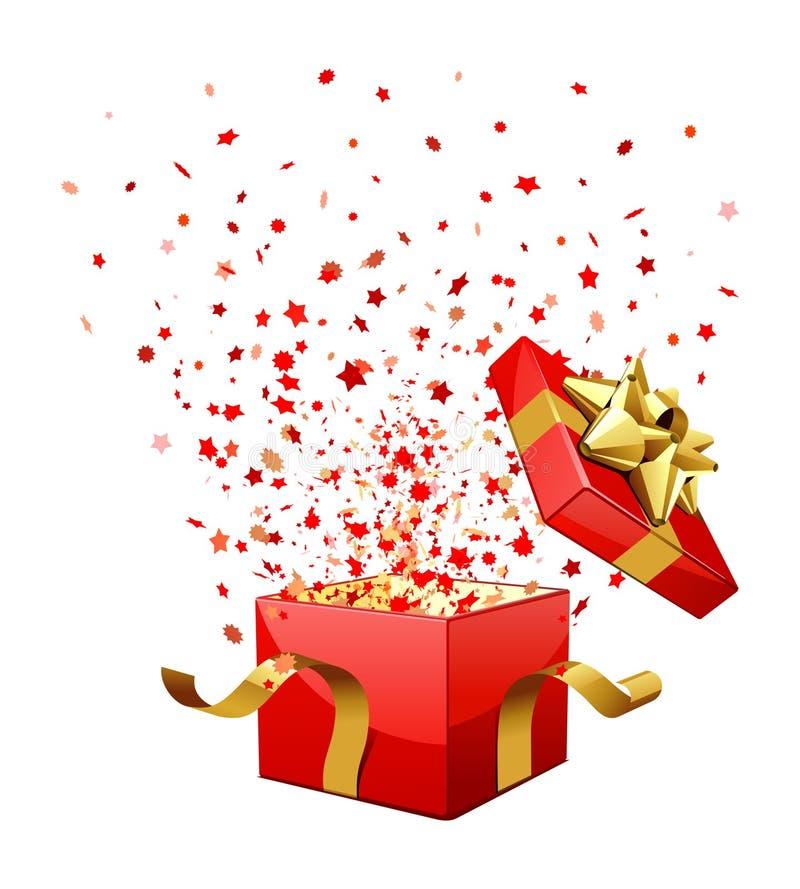 Cadre de cadeau de surprise illustration stock