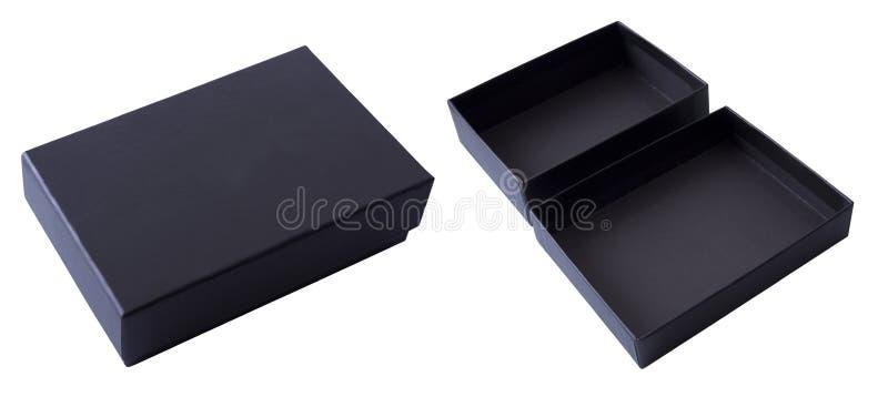 Cadre de cadeau noir images stock