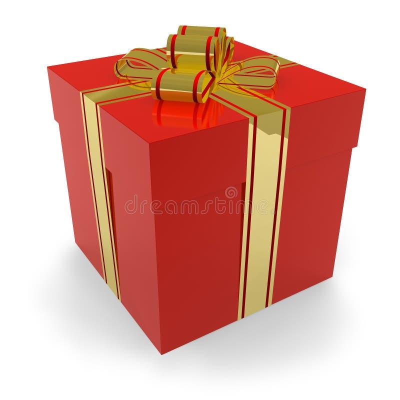 Cadre de cadeau rouge illustration libre de droits