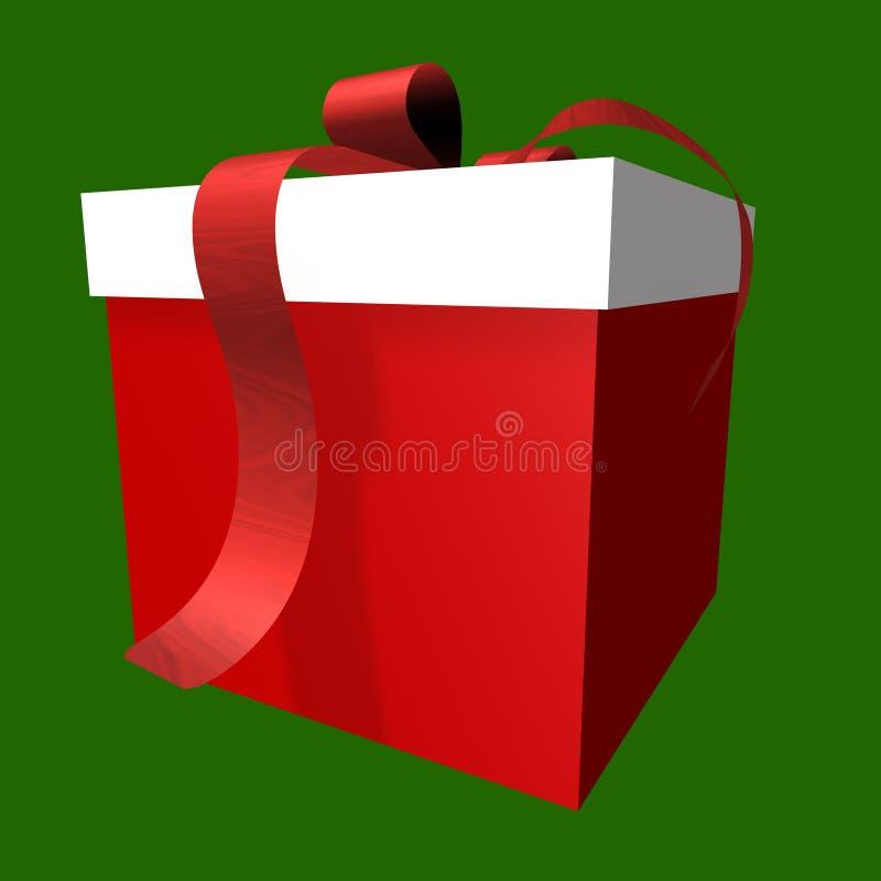 Cadre de cadeau rouge et blanc illustration libre de droits