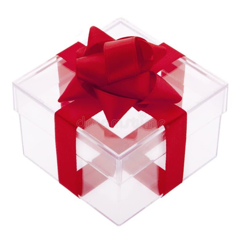 Cadre de cadeau transparent image stock