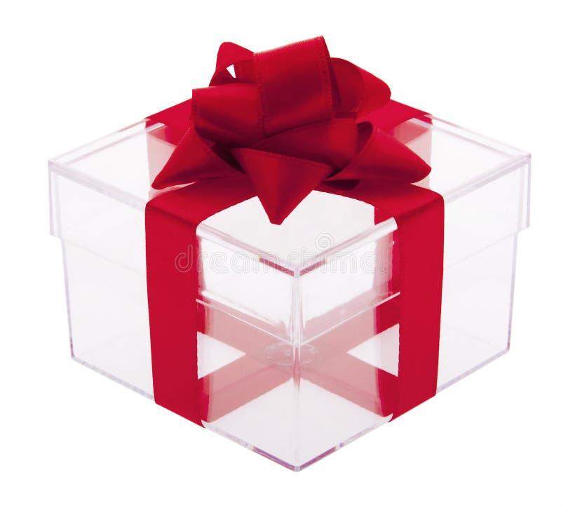 Cadre de cadeau transparent photo libre de droits