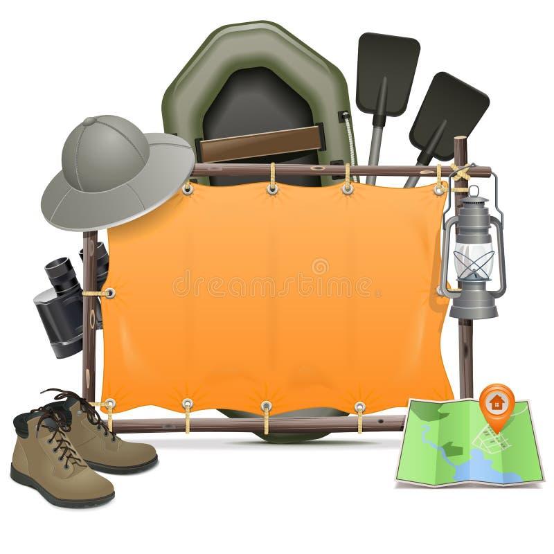 Cadre de camping de vecteur illustration libre de droits