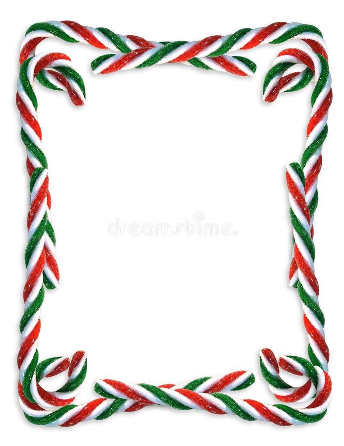 Cadre de canne de sucrerie de Noël illustration stock