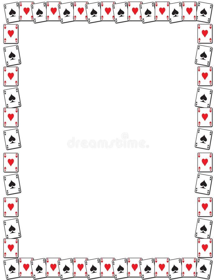 Cadre de carte de jeu illustration de vecteur