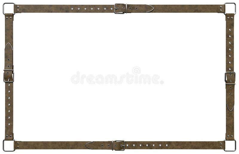 Cadre de ceinture en cuir de Brown photos libres de droits