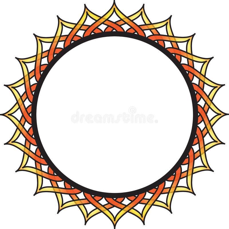 Cadre de cercle image stock