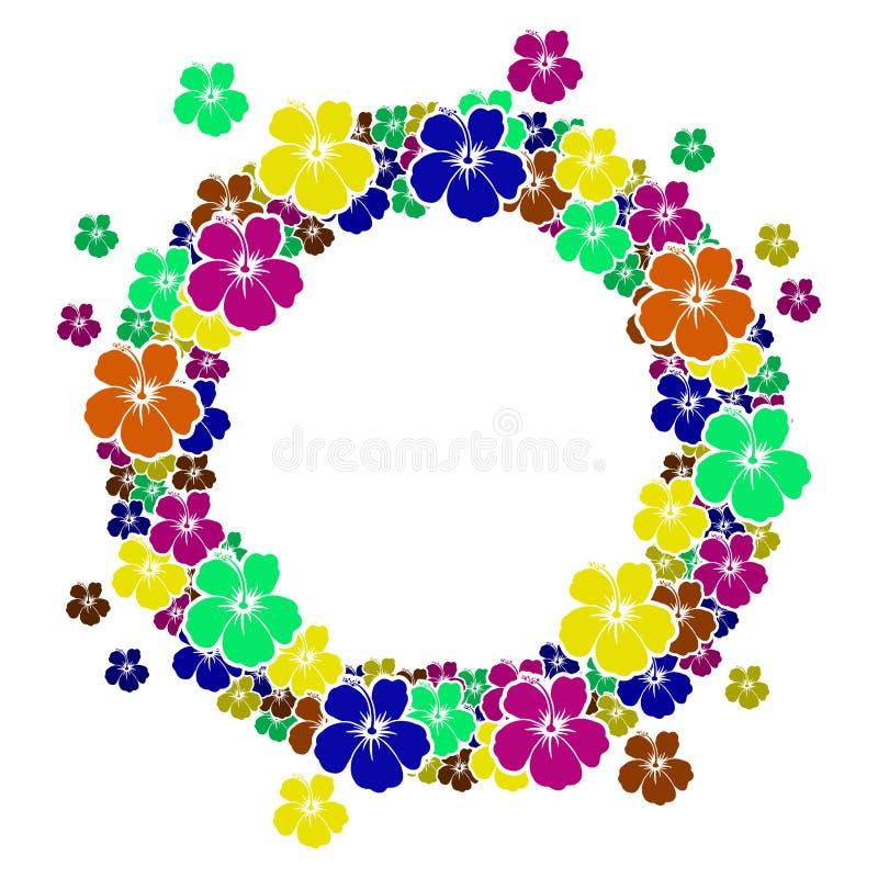 Cadre De Cercle Avec Des Fleurs Pour Votre Texte