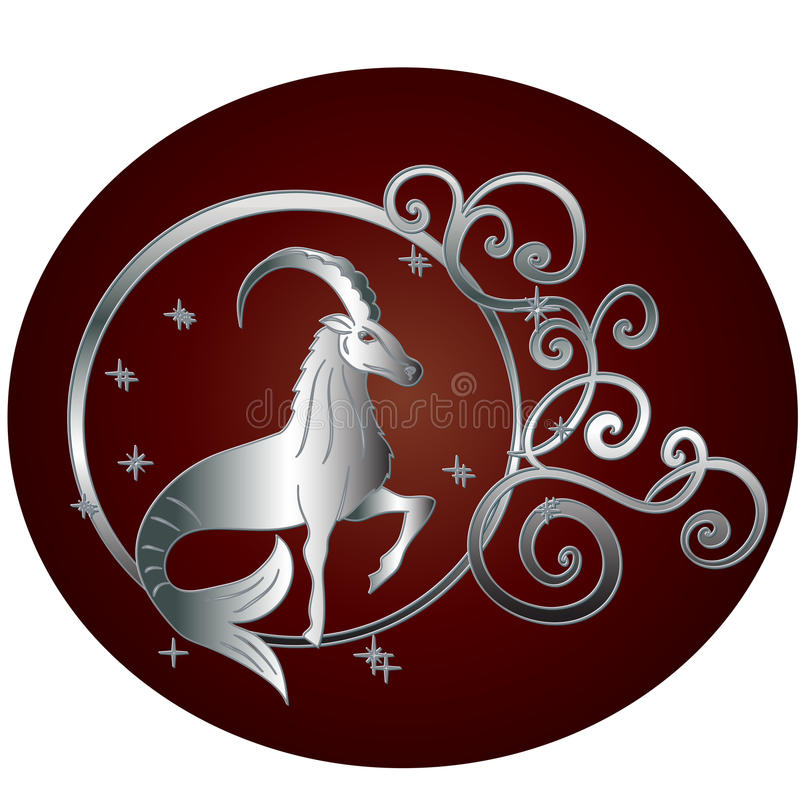 Cadre de cercle de connexion de zodiaque de Capricorne illustration stock