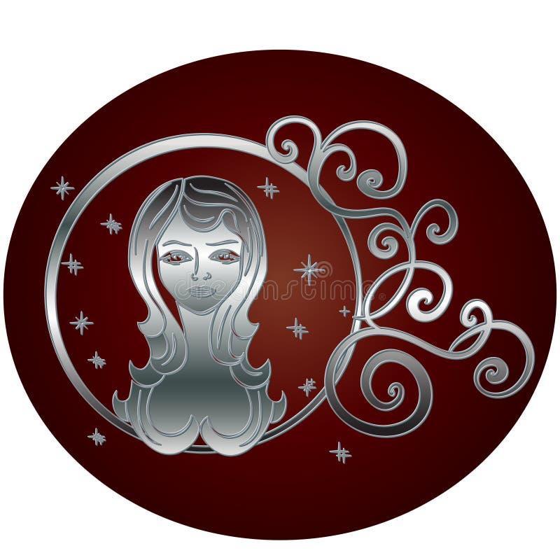 Cadre de cercle de connexion de zodiaque de Vierge illustration libre de droits