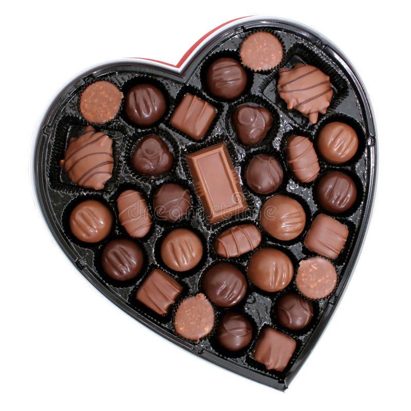 Cadre de chocolats dans une forme de coeur (image 8.2mp) photo stock