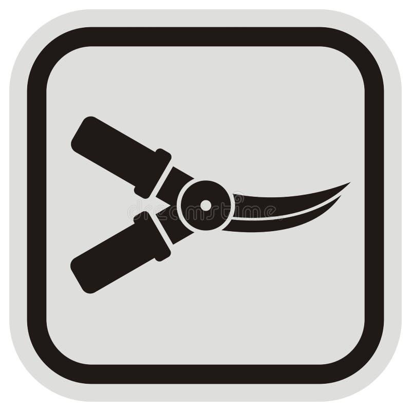 Cadre de cisailles, gris et noir, icône de vecteur illustration libre de droits