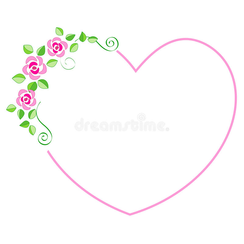 Cadre de coeur illustration stock
