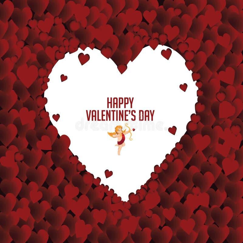 Cadre de coeur de jour de Valentine's illustration stock