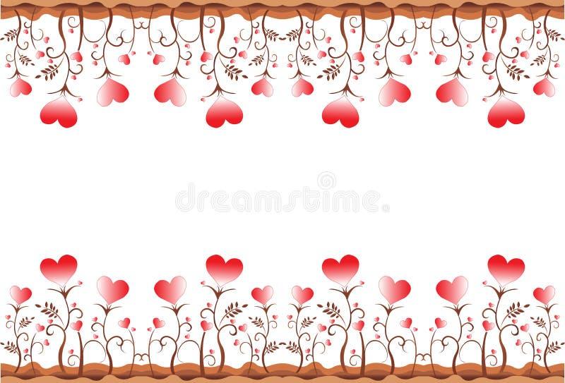 Cadre de coeur de lame illustration de vecteur
