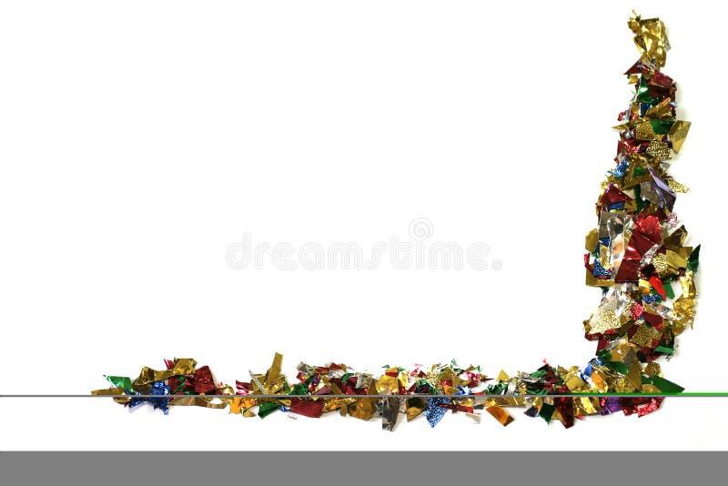 Cadre de confettis photographie stock