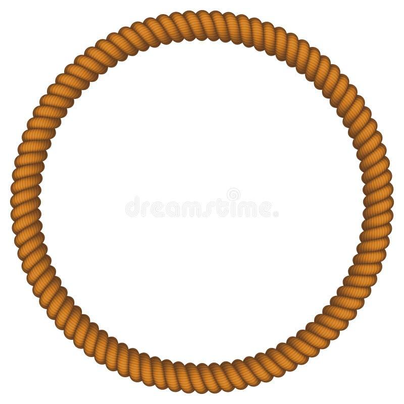 Cadre de corde illustration stock