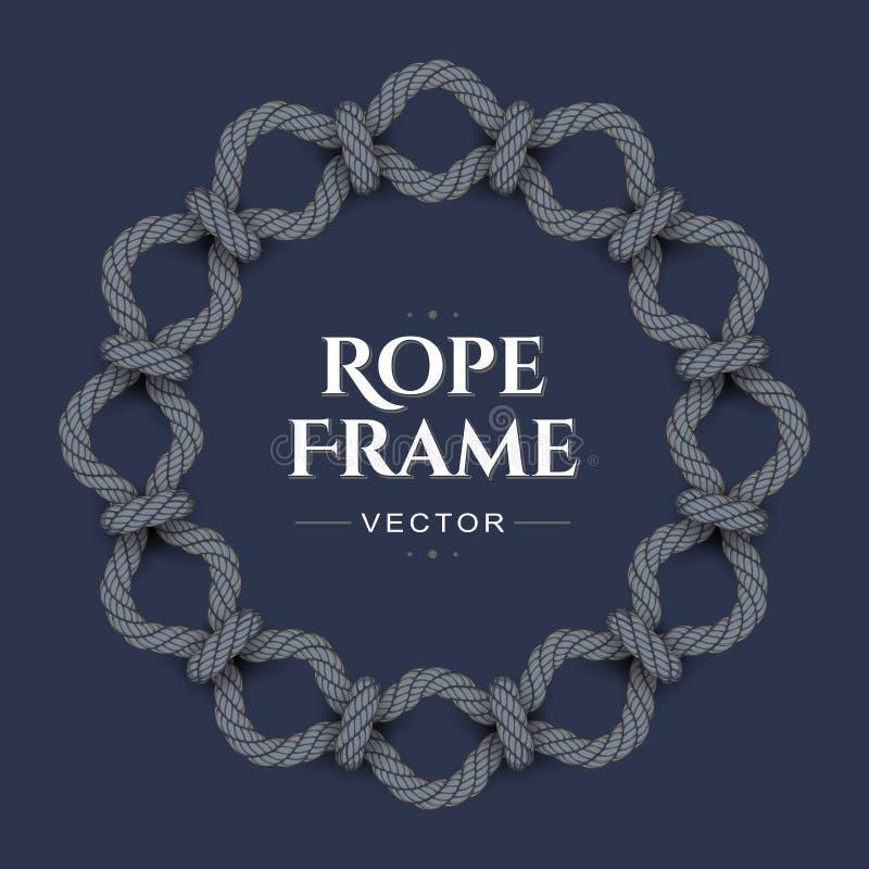Cadre de corde ronde illustration libre de droits