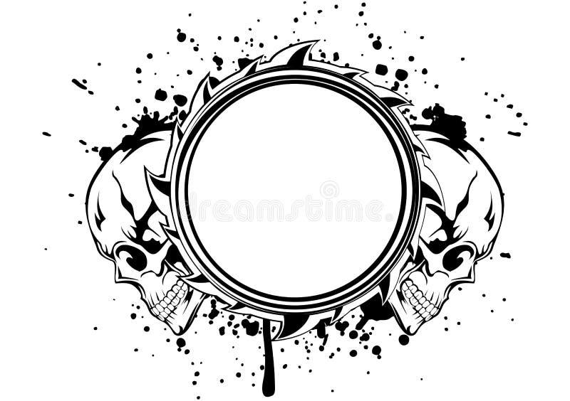 Cadre de crânes illustration libre de droits