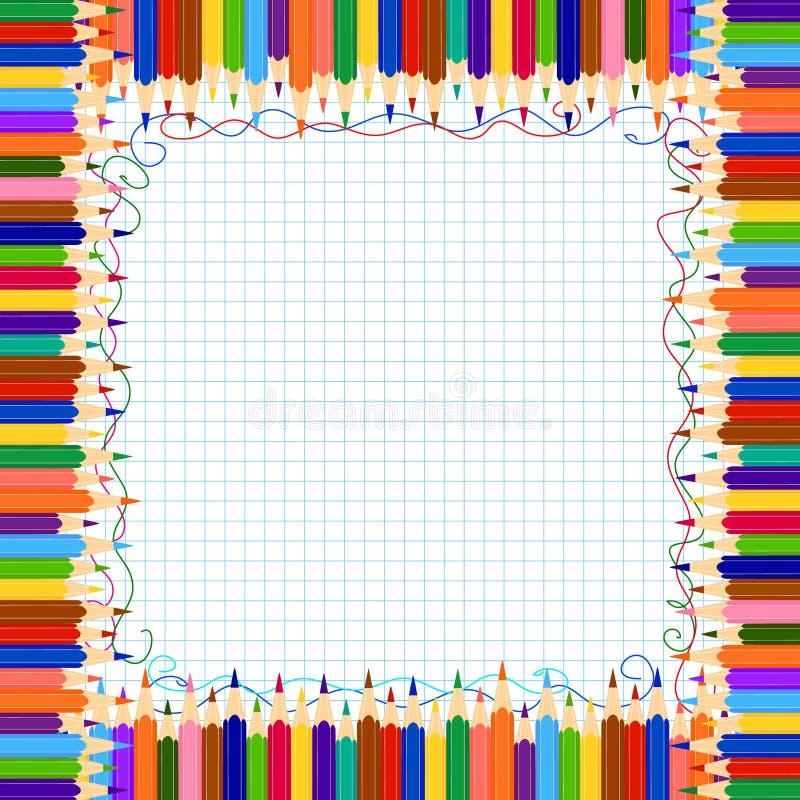 Cadre de crayon images libres de droits