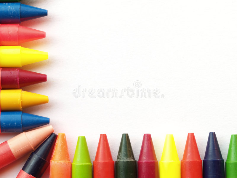Cadre de crayon de cire photo libre de droits