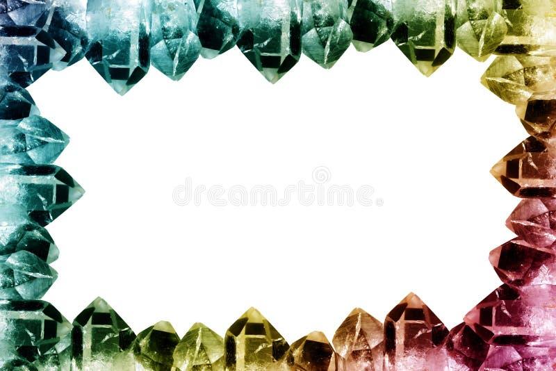 Cadre de cristal de quartz photo libre de droits