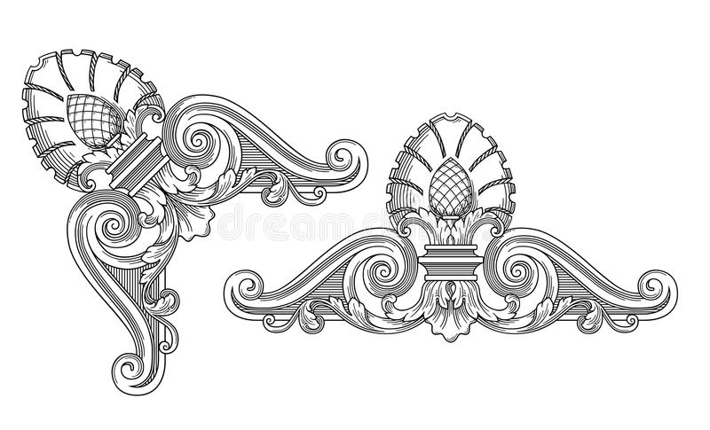 Cadre de décoration illustration de vecteur