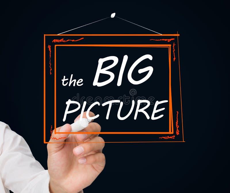 Cadre de dessin d'homme d'affaires avec le grand texte de photo dans lui photo stock