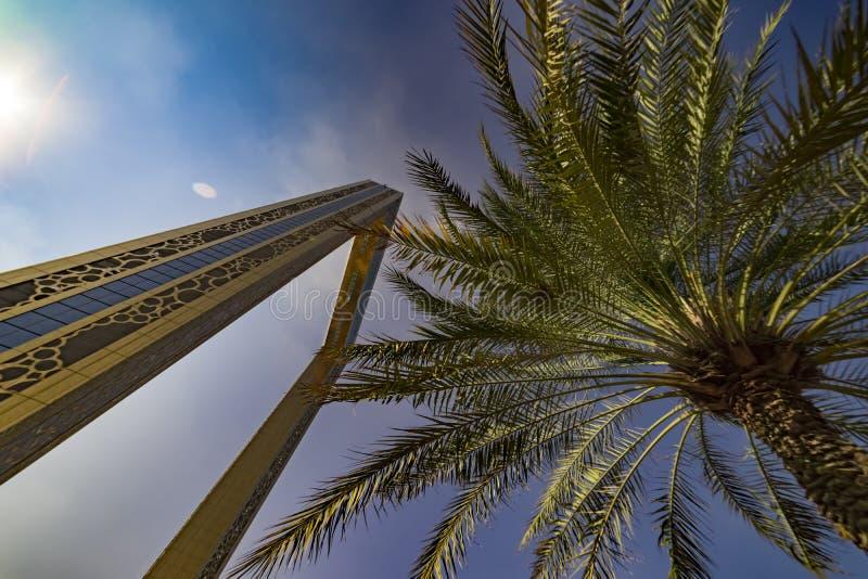 Cadre de Dubaï, Dubaï, émirats - janv. 2018 images stock