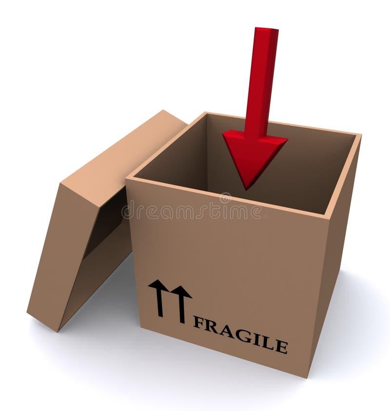 Cadre de empaquetage fragile illustration de vecteur