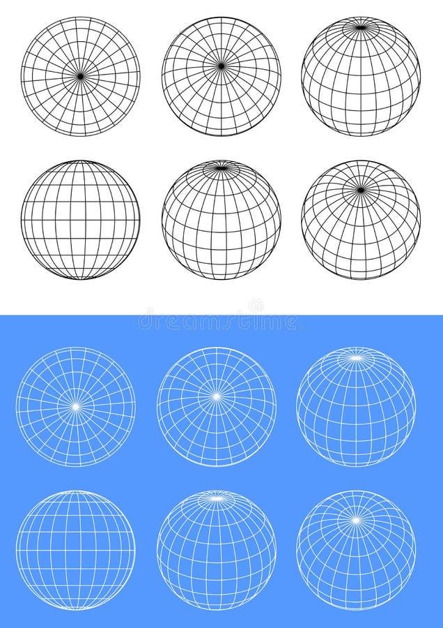 Cadre de fil de sphère illustration de vecteur