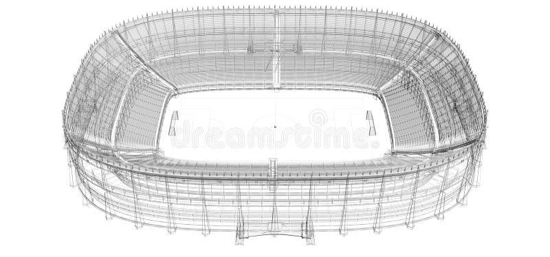 cadre de fil de stade du football ou de football illustration de vecteur