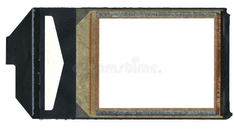 Cadre de film d'Instamatic avec l'onglet noir de traction photographie stock