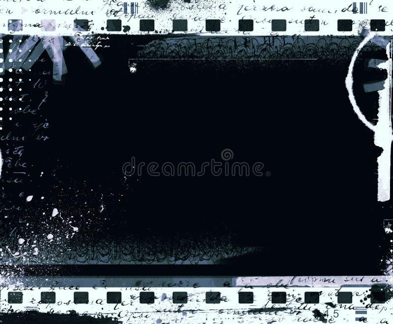 Cadre de film grunge avec l'espace pour le texte ou l'image photos libres de droits