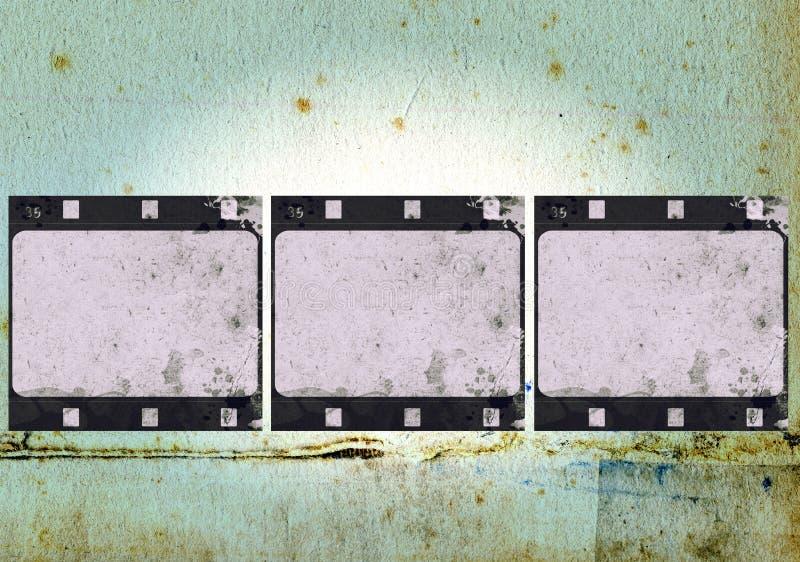 Cadre de film grunge avec l'espace pour le texte ou l'image illustration stock