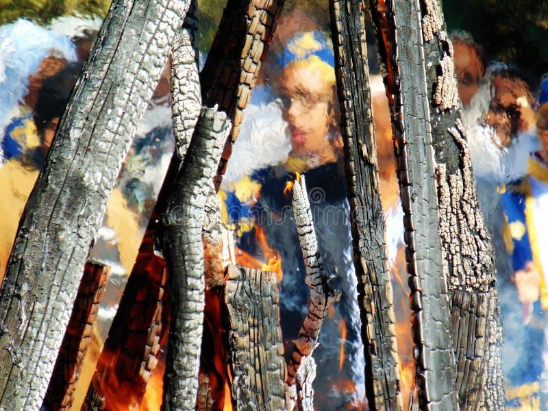 Cadre de flamme photographie stock libre de droits