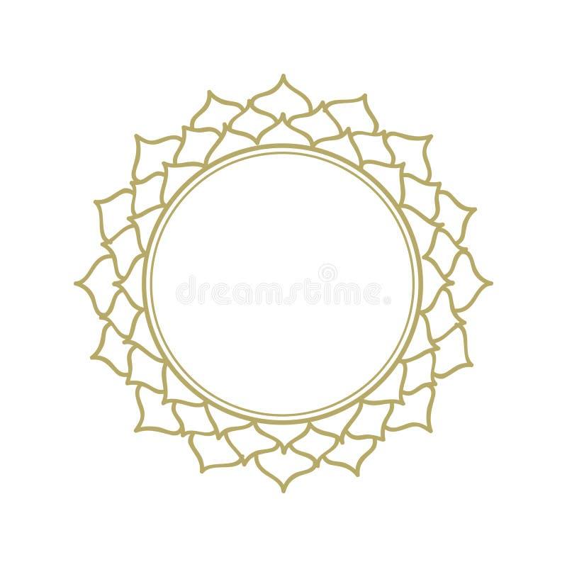 Cadre de fleur de Lotus illustration libre de droits
