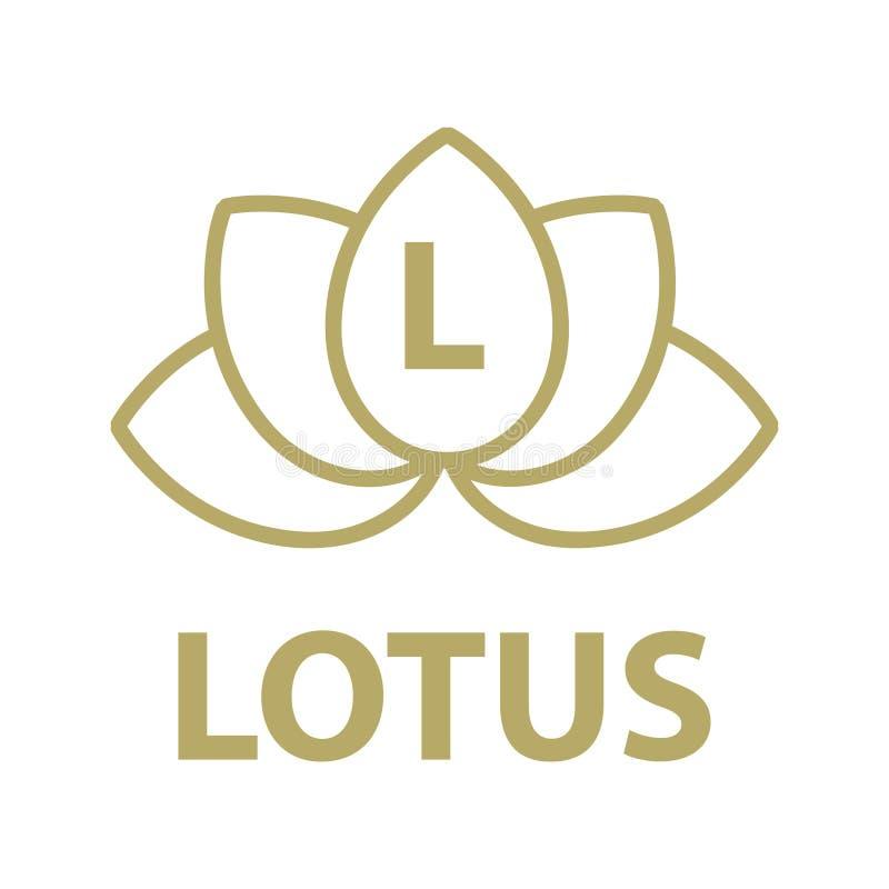 Cadre de fleur de Lotus illustration de vecteur