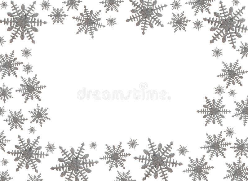 Cadre de flocon de neige image libre de droits