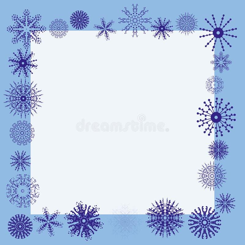 Cadre de flocon de neige de l'hiver illustration libre de droits
