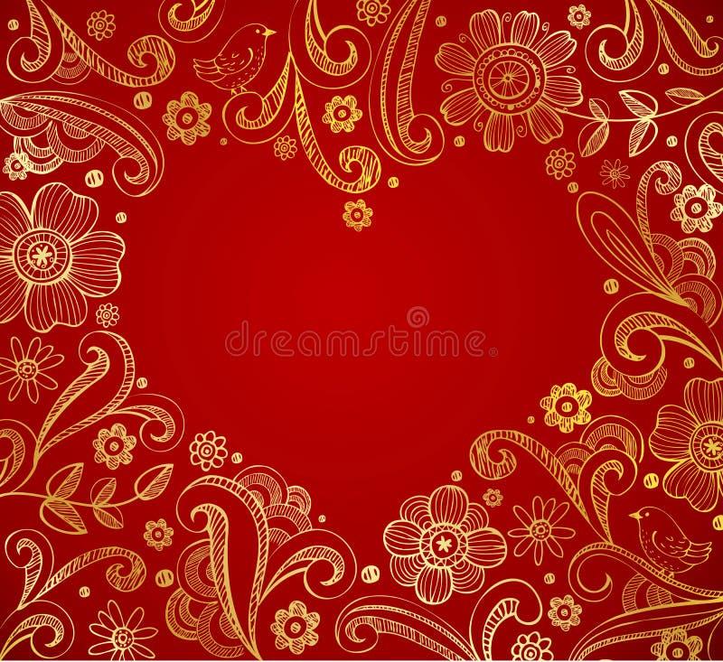 Cadre de forme de coeur illustration libre de droits