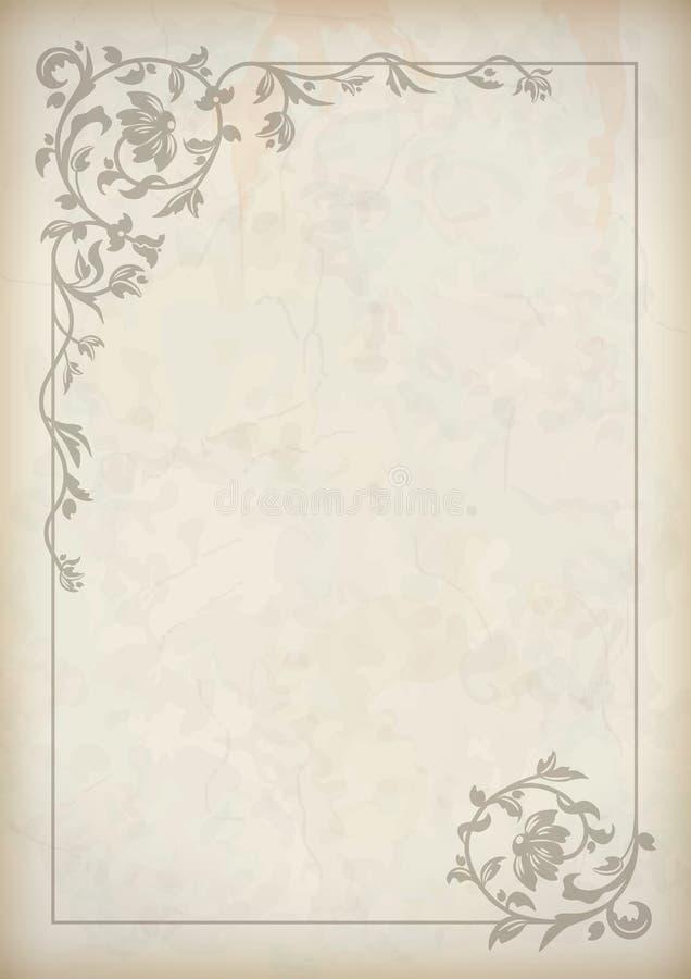 Cadre de frontière de vintage de vecteur illustration stock