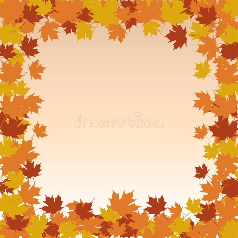Cadre de frontière de feuille - automne illustration libre de droits
